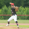 New Albany All-Star Grady Mayfield fires a pitch during New Albany's 11-0 victory over Greater Clark in the District 5 eleven year old championship game at Kevin Hammersmith Memorial Park on Friday.  Photo by Joe Ullrich