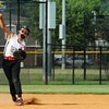 New Albany shortstop Karley Sweeney fields the grounder to make the play at first base during the New Albany and Jeff/GRC 11 and 12-year-old All-Star game at the Clarksville Little League Park Tuesday.<br /> Staff photo by Tyler Stewart