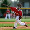 Xavier Hart delivers a pitch for Jeff/GRC during the Silver Creek and Jeff/GRC 9-10 baseball pool play game in the District 5 All-Star tournament at the Clarksville Little League Park Tuesday. <br /> Staff photo by Tyler Stewart