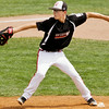 Josh Castleman pitches during New Albany's game against Burlington, Wis. in the Great Lakes Region tournament semifinals in Indianapolis on Thursday. New Albany won the game in four innings, 14-4. Staff photo by Christopher Fryer