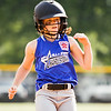 Brooke Shoffner steals third base during Charlestown's game against Clarksville at the Clarksville Little League Park on Monday. Staff photo by Christopher Fryer