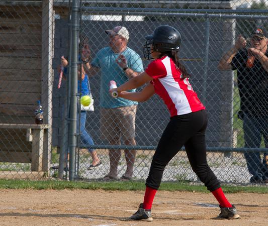 SAM HOUSEHOLDER   THE GOSHEN NEWS<br /> Elizabeth Ramirez hits the ball during the game against Mishawaka Wednesday.