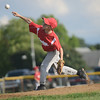 HALEY WARD | THE GOSHEN NEWS <br /> Goshen's Myles McLaughlin pitches during the Goshen vs. Bristol game on Friday at the Goshen Little League Park.