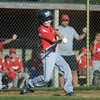 HALEY WARD | THE GOSHEN NEWS <br /> Goshen's Carter Miller bats during the Goshen vs. Bristol game on Friday at the Goshen Little League Park.
