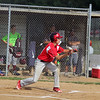 GREG KEIM   THE GOSHEN NEWS<br /> Josh Haimes of the Goshen Junior All-Stars squares to bunt in the first inning of a District 14 All-Star baseball game against Mishawaka Saturday at Goshen.