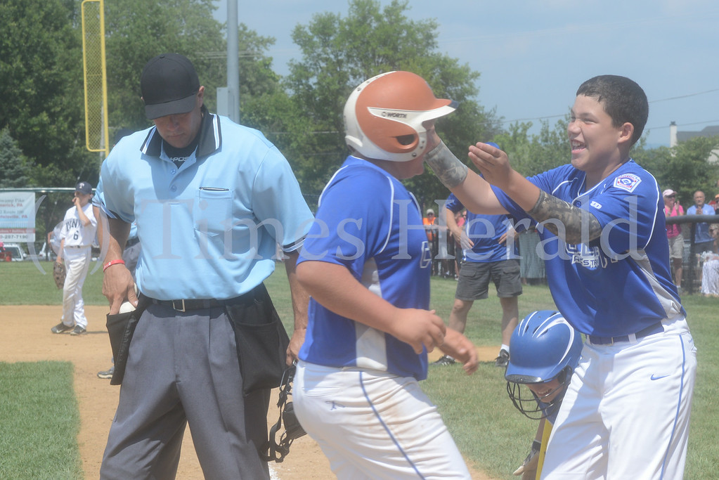 . Collier defeats Taney, 7-2 on Saturday afternoon.  Saturday, July 26, 2014.  Photo by Adrianna Hoff/Times Herald Staff.