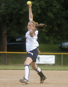 Mifflinburg's Jenna Strawbridge pitches against Danville on Thursday.