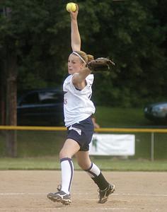 Mifflinburg's Jenna Strawbridge pitches against Danville on Thursday.