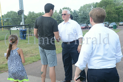 Governor Corbett visits Little League Game at Lower Perkiomen Fields