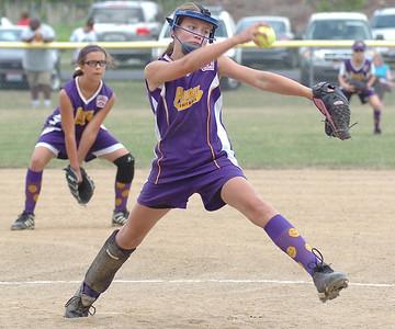 Avon's pitcher #8 Dani Austinson