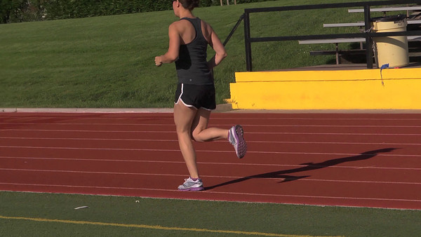 Liz and Baldy running form video