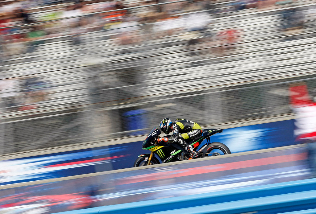 . Bradley Smith from England, at Mazda Raceway Laguna Seca during the morning warm-up session for the Red Bull U.S. Grand Prix in Monterey on July 21, 2013.  (Vern Fisher/Monterey County Herald)