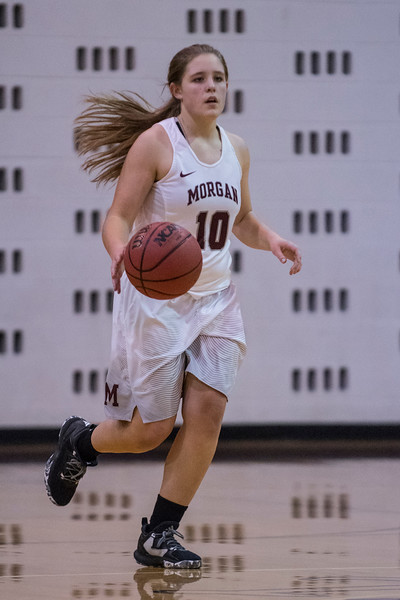 Morgan girl's beat Logan High School 46-33 in Morgan on January 12, 2017.