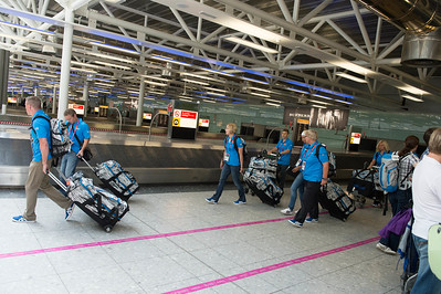Finnish athletes got their luggages__25.0712_London Olympics_Photographer: Christian Valtanen_London_Olympics_25.07.2012__ND46114_