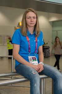Jaana Sundberg at the Heathrow airport_Judo_25.0712_London Olympics_Photographer: Christian Valtanen_London_Olympics_25.07.2012__ND46106_Jaana Sundberg, judo
