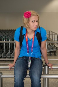 Johanna Ylinen at the Heathrow airport__25.0712_London Olympics_Photographer: Christian Valtanen_London_Olympics_25.07.2012__ND46103_