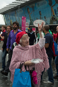 Christians preaching gospel at the Stratford station__31.07.2012_London Olympics_Photographer: Christian Valtanen_London_Olympics_Christians preaching gospel at the Stratford station_31.07.2012_DSC_1170__Photo-Christian_Valtanen