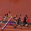 3000 Steeple chase heats Runners 'flow' over the hurdle