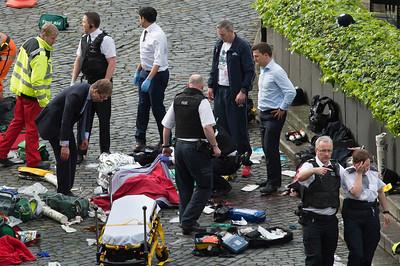APTOPIX Britain Parliament Incident
