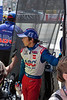 A picture of Takuma Sato during qualifying.  He went on to win the race on Sunday.