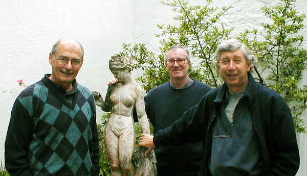 Tony Tom and Mike on the Worcestershire way June 2000