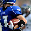 Longmont's Dawlton Cole (17) carries the ball down field during the game against Pine Creek during the Class 4A State Quarterfinals at Longmont High School in Longmont, Saturday, Nov. 21, 2009.<br /> <br /> KASIA BROUSSALIAN /THE CAMERA