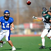 Longmont's Jake Johnson (14) throws an incomplete pass against Pine Creek during the Class 4A State Quarterfinals at Longmont High School in Longmont, Saturday, Nov. 21, 2009.<br /> <br /> KASIA BROUSSALIAN /THE CAMERA