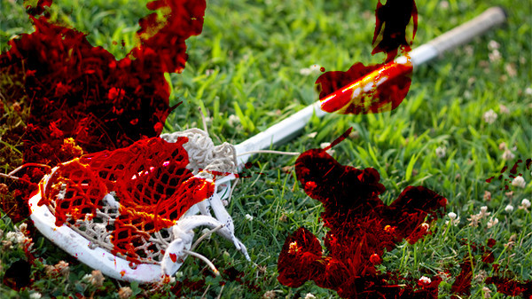 Bloody Lacrosse Stick