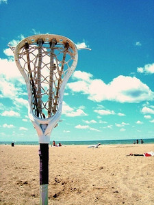 Lacrosse Stick at the Beach