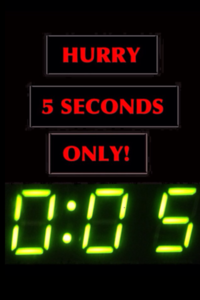 Hurry 5 Seconds Only (png)