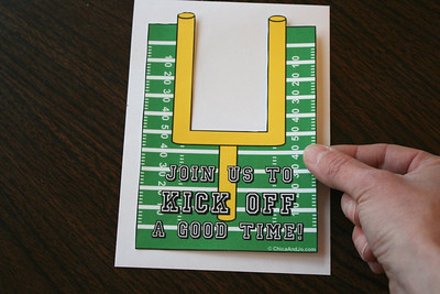 Football Party Invite