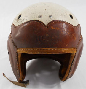 Football Helmet Leather & Hard Plastic