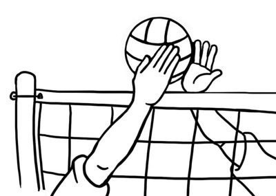 Volleyball Clip Art Net Block