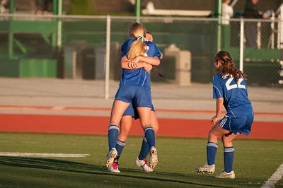 Congrats after Allie's goal against MV
