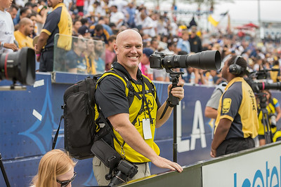 Photographing the LA Galaxy at the Stub Hub Center.