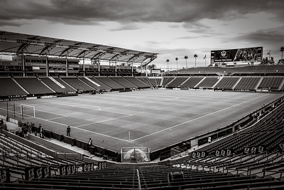 Stub Hub, home field for the LA Galaxy, before the crowds arrive.