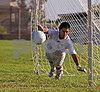 Brian (Los Gauchos soccer club, BU-15) attempts to save a penalty kick during a tie breaking shoot out after the Los Gauchos boys tied the game 0-0.  Semifinals at the Hotspurs tournament in San Diego over Labor Day weekend (9/08)