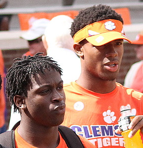 Kaleb Chalmers and Kelly Bryant