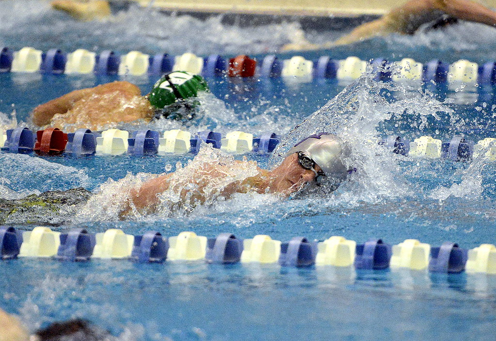 . Mountain View\'s Jonathan Zakanycz swam to a 12th-place finish in the 200-yard freestyle during Saturday\'s finals of the 4A State Swimming Championships at the Air Force Natatorium.