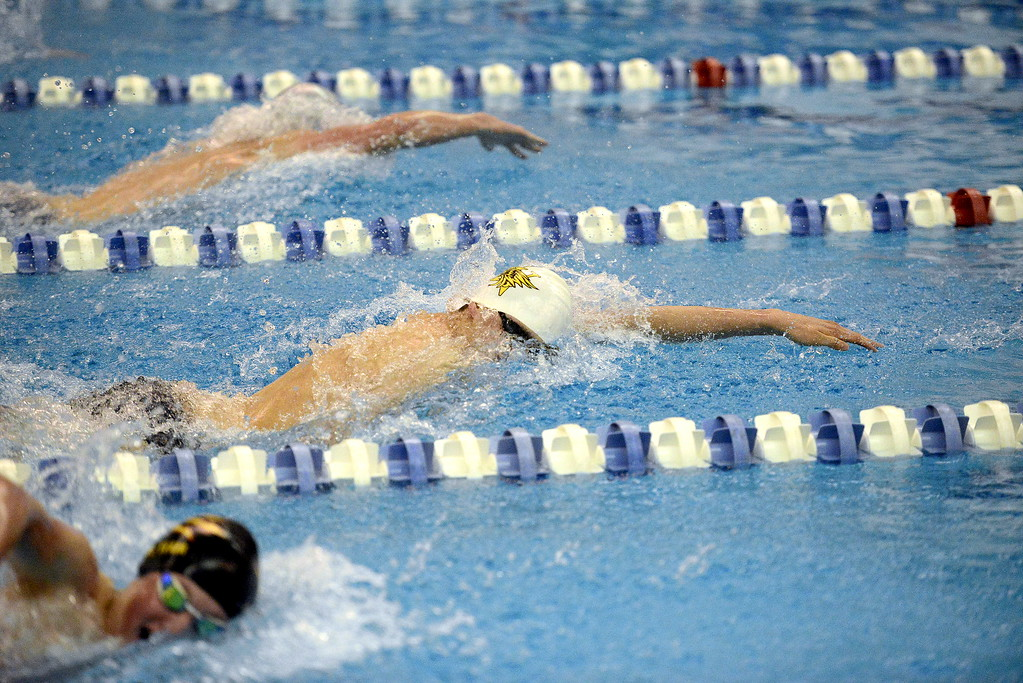 . Thompson Valley\'s Liam Gately comes back for Saturday\'s 4A state swimming finals as the top seed in both the 200- and 100-yard freestyles after posting All-American consideration times in both events.  (Photo by Mike Brohard/Loveland Reporter-Herald)