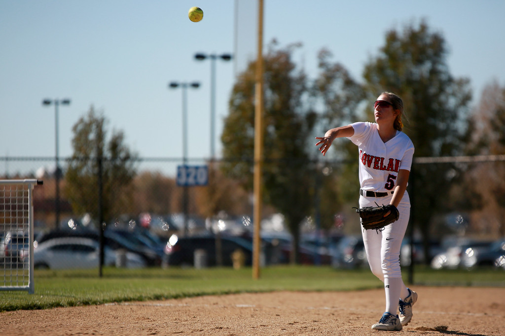. Loveland�s (5) Jordan Irwin throws the ball at the Colorado state championships during their game against Cherokee Trail at Aurora Sports Park on Oct. 20, 2018 in Aurora, Colo.Photo by Taelyn Livingston/ Loveland Reporter-Herald