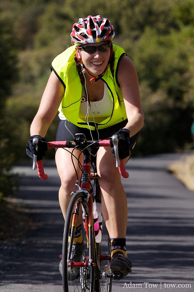 Kelly finishes the climb