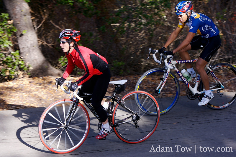 Anny Henry sets the pace with Jorge Chang up the slopes of Mt. Diablo