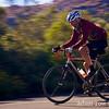 Richard speeds down towards the climb to the Mt. Hamilton Observatory.