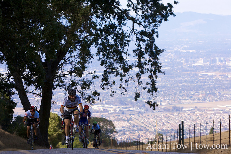 San Jose in the background of Quimby Road.
