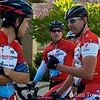 Sugar CRM riders plot their strategy to take the team competition.
