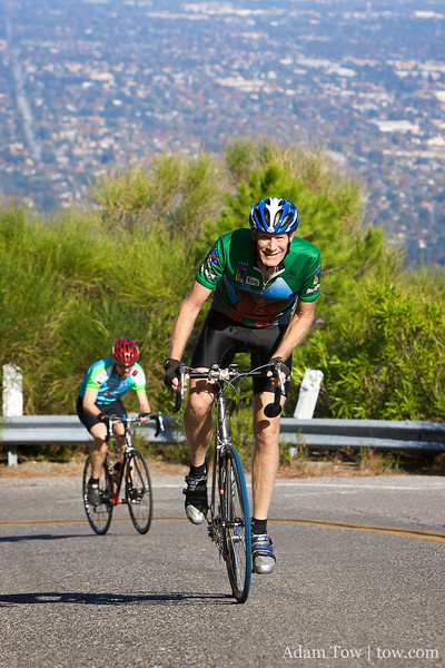 Week 6 of the 2009 Edition of the Low-Key Hillclimbs ascended up the dreaded Bohlman-Norton-Kittridge-Quickert-On Orbit-Bohlman.