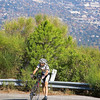 Bike mechanical slowed this rider down.