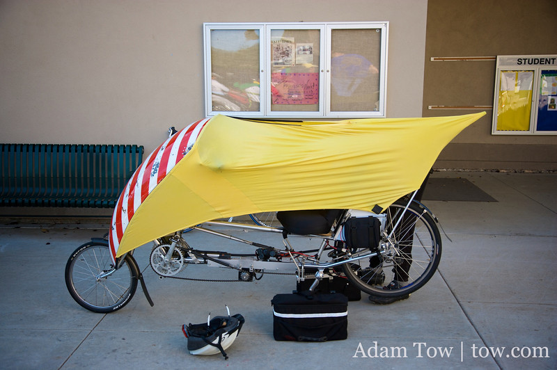 Bill's hybrid bike.