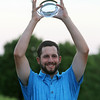 Final round of Lowell City Golf Tournament at Mt Pleasant Golf Club. Winner Chris Gentle with trophy. (SUN/Julia Malakie)